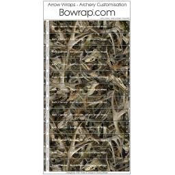 Custom Arrow Wraps Design 0099 - Skulls Camouflage