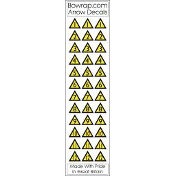 Arrow Number Decals Triangles Nos 1 to 12