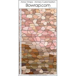 Custom Arrow Wraps Design 0072 - Stained Glass