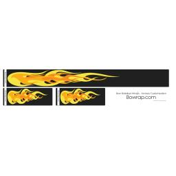 Stabiliser Skins Yellow Flames Design 0114