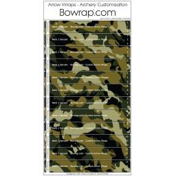 Custom Arrow Wraps Design 0090 - Jungle Camouflage