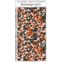 Custom Arrow Wraps Design 0092 - Urban Camouflage