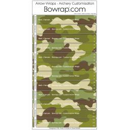 Custom Arrow Wraps Design 0095 - Balkan Camouflage