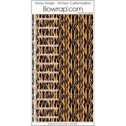 Custom Arrow Wraps Design 0108 - Tiger