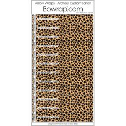 Custom Arrow Wraps Design 0102 - Cheetah