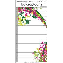 Custom Arrow Wraps Design 0071 - Hanging Garden