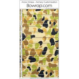 Custom Arrow Wraps Design 0085 - Bush Camouflage