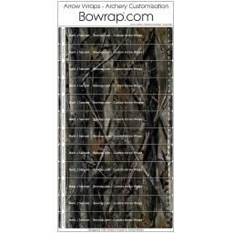 Custom Arrow Wraps Design 0096 - Woodland Camouflage
