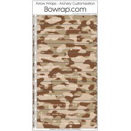 Custom Arrow Wraps Design 0087 - Arid Desert Camouflage