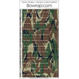 Custom Arrow Wraps Design 0089 - Forest Camouflage