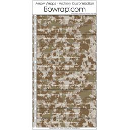 Custom Arrow Wraps Design 0100 - Digital Desert Camouflage