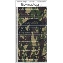 Custom Arrow Wraps Design 0094 - NATO Camouflage