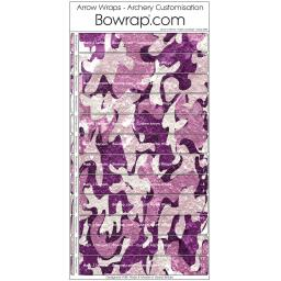 Custom Arrow Wraps Design 0088 - Purple Camo