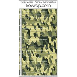 Custom Arrow Wraps Design 0093 - Ukraine Camouflage