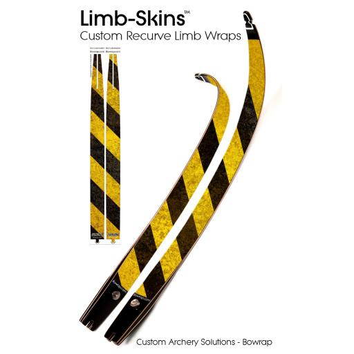 Recurve Bow Limb-Skins Design 0004 - Road Block