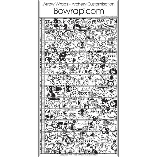 Custom Arrow Wraps Design 0054 - Doodles