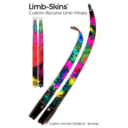 Recurve Bow Limb-Skins Design 0005 - Paint Splats