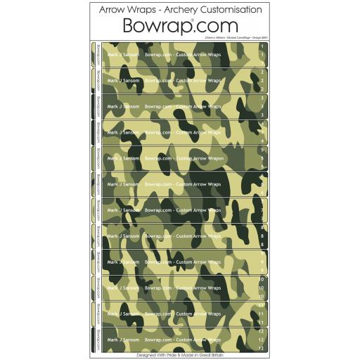 New Range of Camouflage Arrow Wraps Just Released.